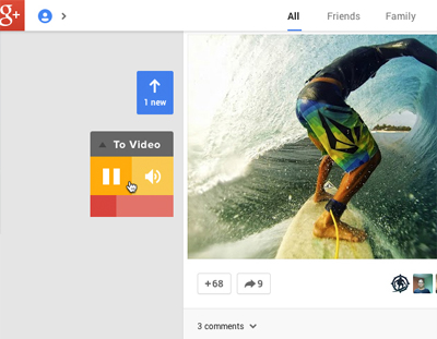 Better user experience on Google plus