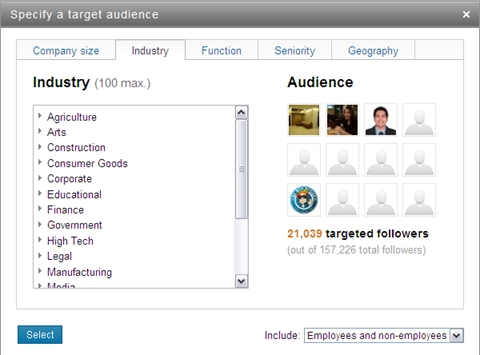 Targeted Status Updates on LinkedIn – Are You Using Them