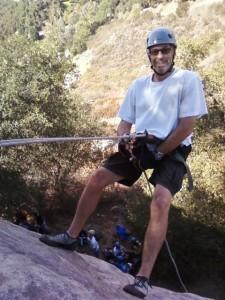 Dave LaSorte climbing