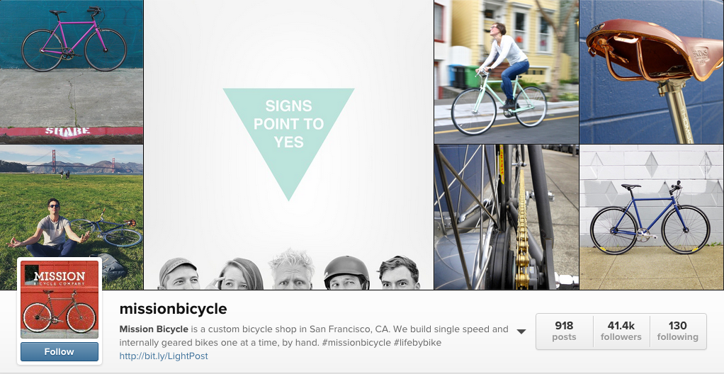 Mission Bicycle Instagram