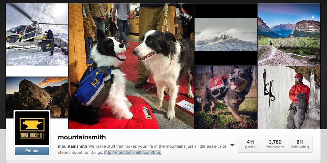 Mountainsmith Instagram