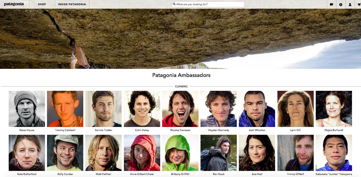 Patagonia Brand Ambassador