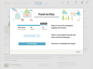 Fund on Etsy. Credit: Etsy Inc.
