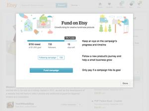 Fund on Etsy. Credit: Etsy Inc.