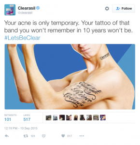 Clearasil Twitter Ad