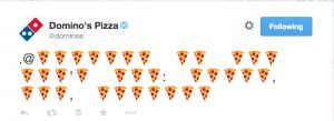 Domino's Pizza Tweet