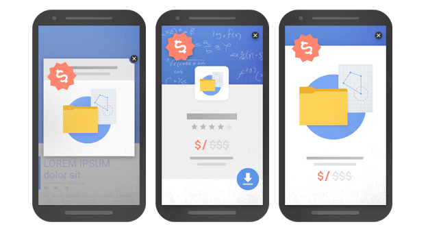 Google's example of interstitials that will be affected