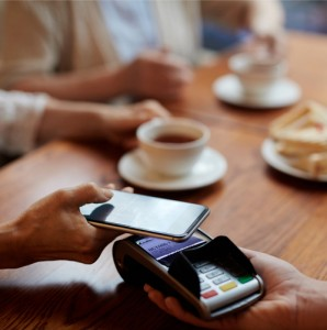 Paying with NFC mobile payments in cafe