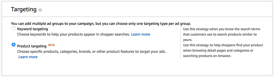 Amazon targeting
