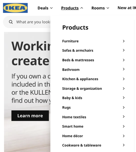Ikea Website
