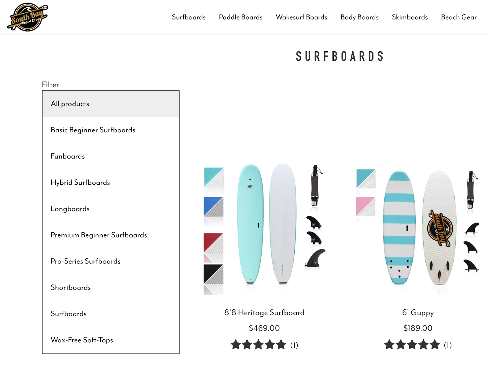 South Bay Board Co Website
